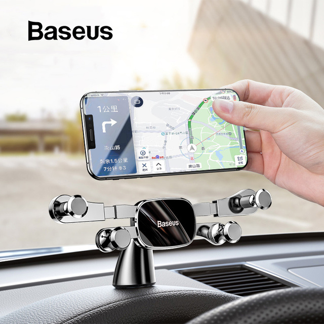 Baseus Car Phone Holder for iPhone Samsung Gravity Mount Holder Stand Dashboard Car Holder for Huawei Xiaomi Mobile Phone Holder 1
