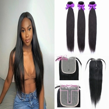 Straight Bundles With Closure Human Hair 3 And 4 Bundles With Hd Transparent Lace Closure Brazilian Hair Weaves Ms love