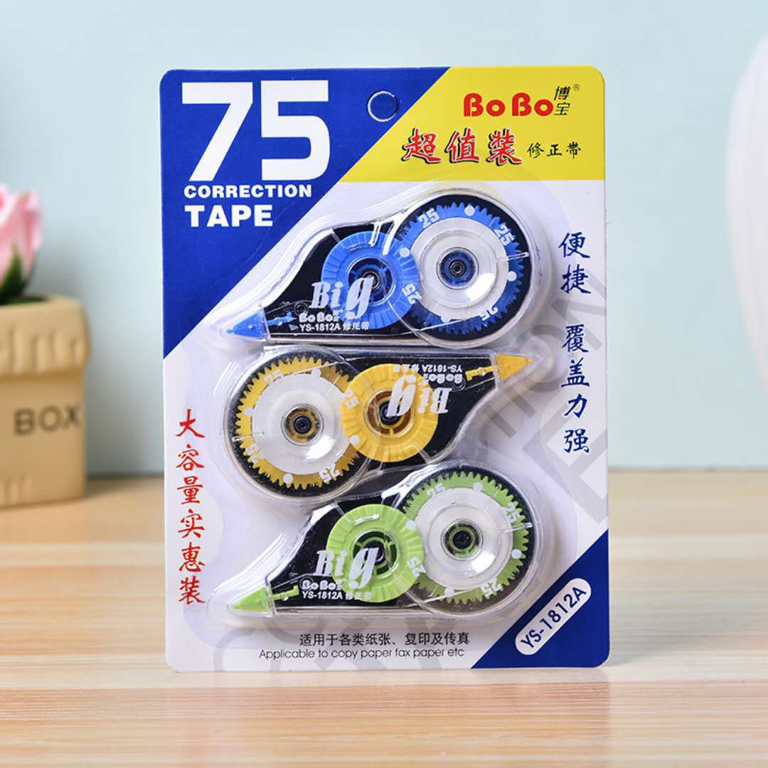 Bo Po 3 Mounted Office Learning For Correction Tape Students Stationery Correction Tape Corretion Pen/fluid