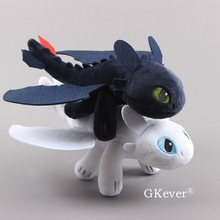 25-60 Cm Tandeloze & Light Fury Knuffels Pop Hoe To Train Your Dragon Pluchen Speelgoed New Arrivals kinderen Baby Cadeau(China)