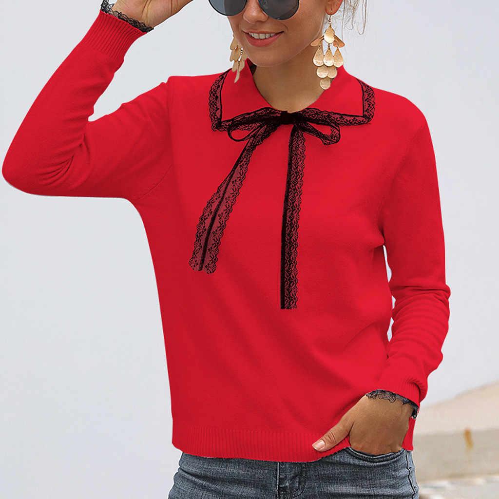 Swetry damskie sweter z dzianiny damskie Casual solidna dzianina Hollow out długi sweter z rękawem bluzka Jumper w sweter damski