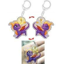 Spyro Die Drachen Action Figur Spielzeug Doppelseitige Acryl Schlüsselbund Schlüsselbund
