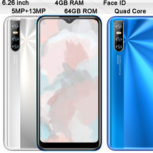 9T Pro mundial de teléfonos móviles 4GB RAM 64GB ROM 4G LTE identificación facial 6,26 pulgadas 5MP + 13MP desbloqueado teléfonos inteligentes Android Quad Core celulares