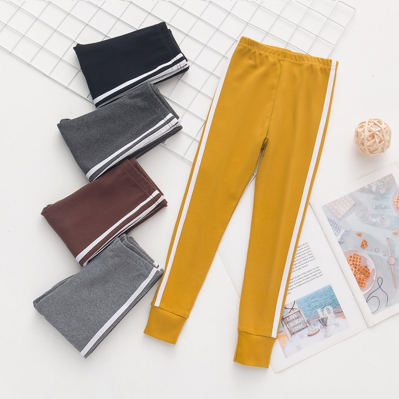 Autumn New Girls Leggings Solid Colors Sports Trousers Girl Leggings Children Baby Girl Casual Pants Cotton Leggings