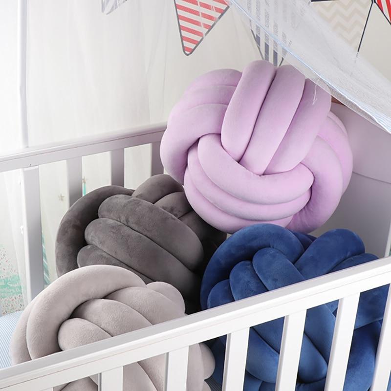 Bab cama de berço forma redonda nó