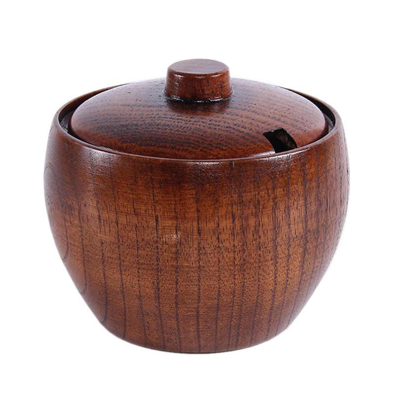 Japanese Style Salt Pepper Seasoning Condiment Pot Sugar Bowl Kitchen Storage