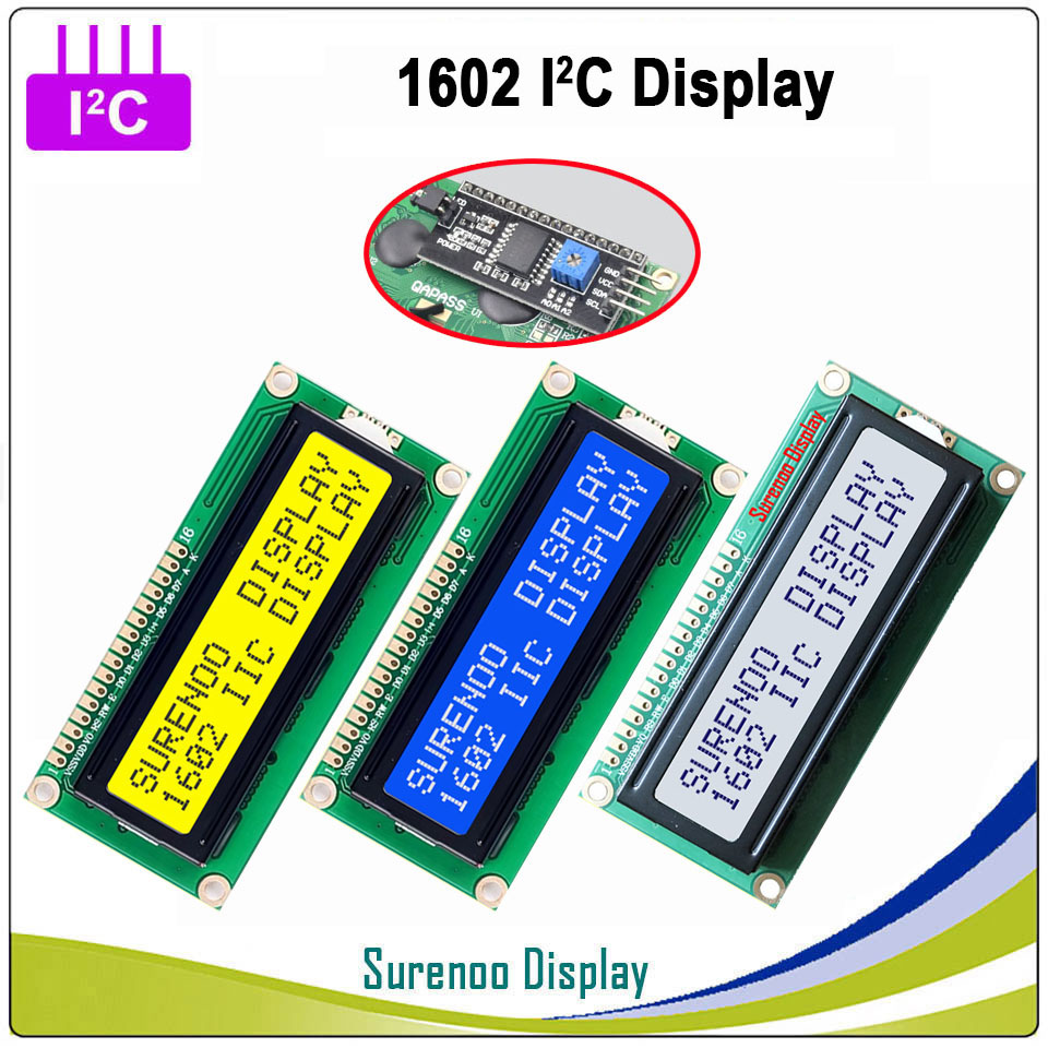 UART CMOS Serial Blue 1602 162 16*2 Character LCD Module Display LCM For Arduino