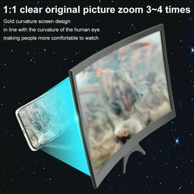 3D Mobile Phone Screen Magnifier HD Video Amplifier Smartphone Holder