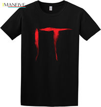 IT Logo Creepy Scary Pennywise clown Stephen King movie Inspired T-Shirt New Fashion Casual Cotton Short-Sleeve Game Shirt stephen king gerald s game