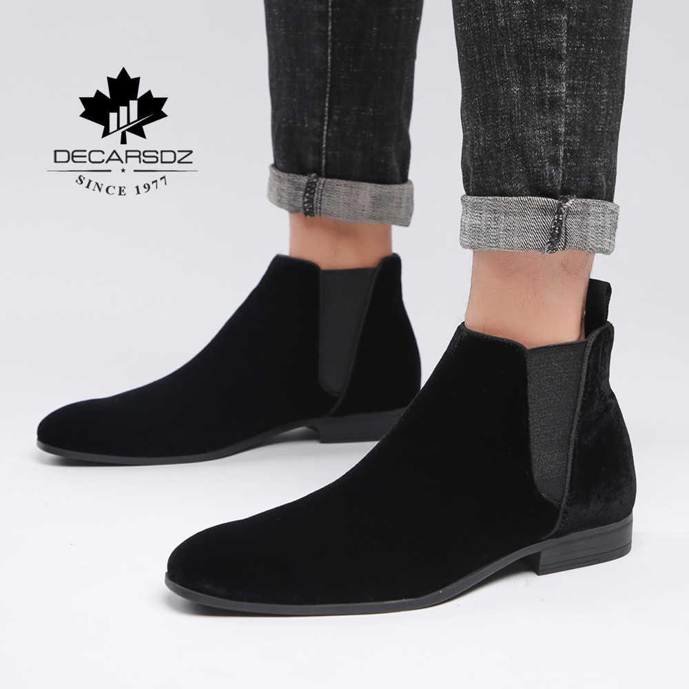 Chelsea Stiefel Männer 2020 Comfy Frühling männer Schuhe Mann Mode Casual Stiefel Männlich Schwarz design Grund herren Stiefel chaussures homme