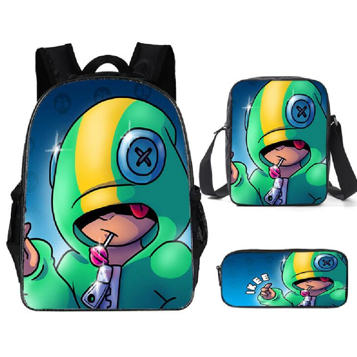 Stars Leon Game School Bag For Teenager Boys Girls Kids Personized Schoolbag 3pcs Sets Supplier Children Hot Game Backpack