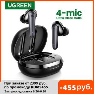 Image 1 - UGREEN HiTune T1 Wireless Earbuds with 4 Mics TWS Bluetooth 5.0 Earphones True Wireless Stereo 24H Playing USB C Charge Earphoe