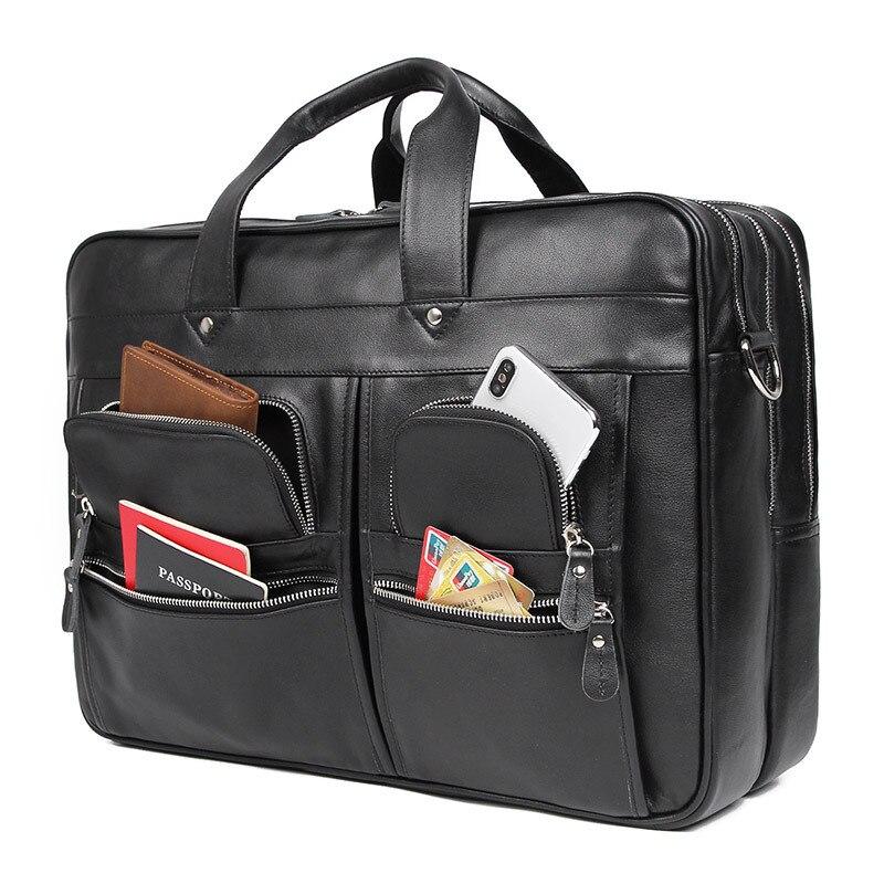 Maheu alta qualidade homens maleta saco no trole caso bolsas de negócios para 17 Polegada computador saco preto marrom nova moda sacos - 2