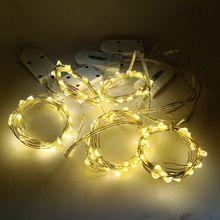 купить 2M Copper Silk Decor Lights For Christmas Indoor Outdoor Festival Wedding Party SMD 0603 10LED/M Waterproof Decorative Lighting по цене 230.56 рублей