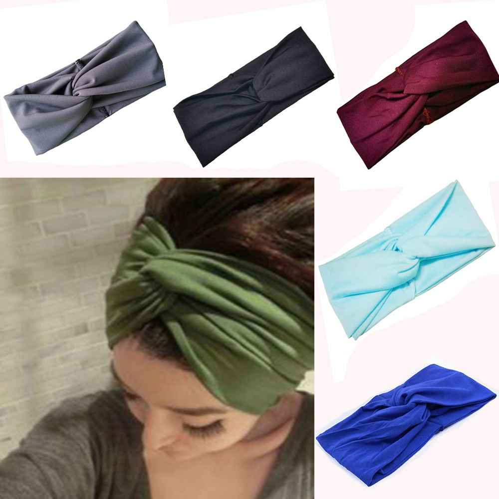 Knot Women Turban Head Knotted Girl Band Twist Cotton Twisted Headband Wrap Hair