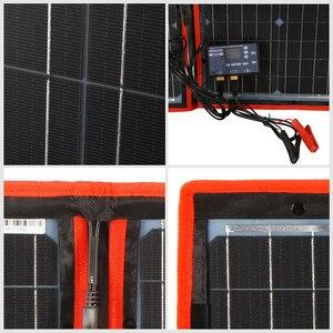 Image 5 - Dokio 100 W (55W x 2Pcs) 18V Flexible Schwarz Solar Panels China Faltbare 12 Volt Controller 100 Watt Panels Solar