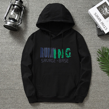 Quality Brand RUNNING Men Hoodie 2020 Autumn Hip Hop Streetwear Men Pullover Sweatshirts Hoodies Mens Solid Color Hoodie Male 1