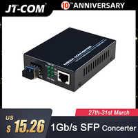 1 Paar = 2 Stück Gigabit SFP-Glasfaser-zu-RJ45-Konverter für optische Medien 1000 Mbit / s Fibra Optica-Switch SFP-Glasfaser-Transceiver mit SFP-Modul SC / LC Kompatibel mit Mikrotik Cisco Ethernet-Switch