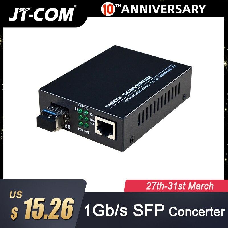 Gigabit SFP Fiber To RJ45 Optical Media Converter 1000Mbps SFP Fiber Transceiver With SFP SC/LC Module Compatible Cisco/Mikrotik