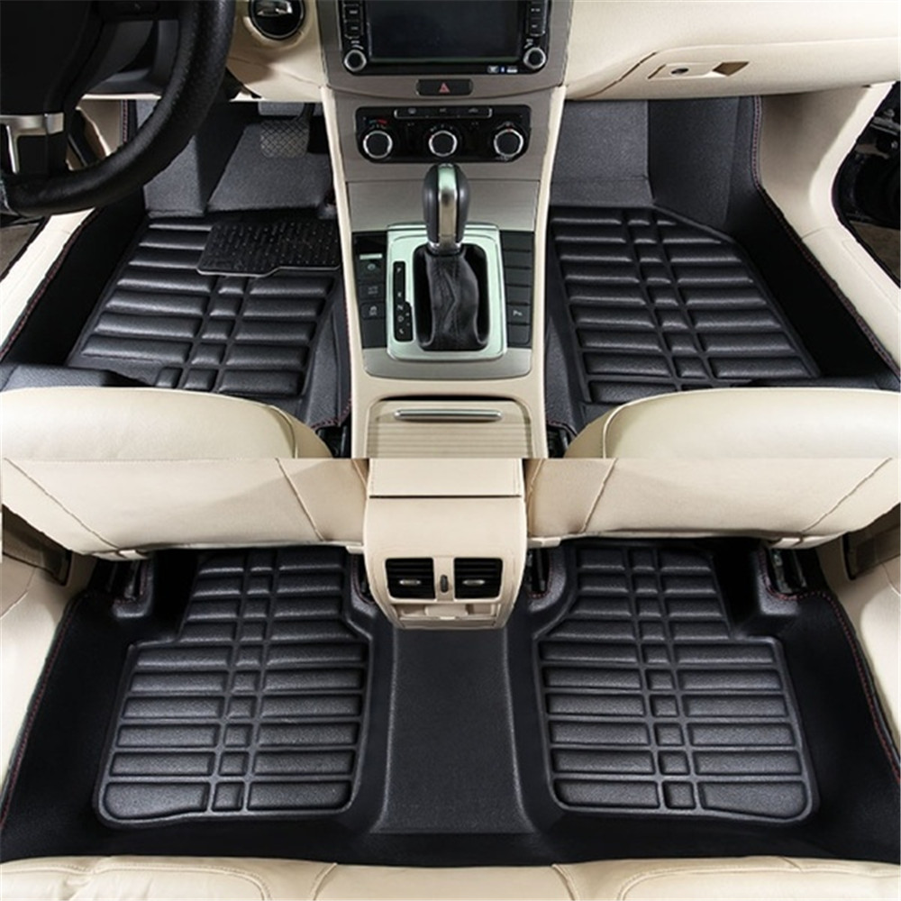 Car-Accessories Car-Floor-Mats Rear-Liner Universal Black Auto Waterproof Front 5pcs title=