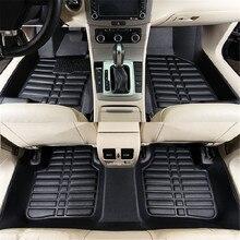 5pcs Car Floor Mats Black Leather Universal Auto Car Floor Mats Front Rear Liner Weather Set Waterproof Car Accessories Styling