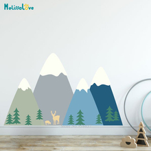 Forest Animals Mountains Woodland Wall Sticker Decal Family