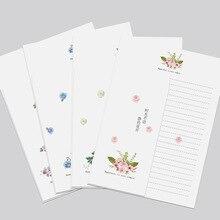 5 шт. бумага для письма 5 шт. наборы конвертов каваи животные пейзаж музыкальная Живопись дизайн конверт для влюбленных бумага для письма канцелярские принадлежности