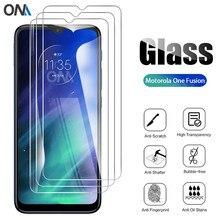 3Pcs Gehärtetem Glas Für Motorola One Fusion Glas Screen Protector Glas für Motorola Moto Eine Fusion Plus Schutzhülle Film