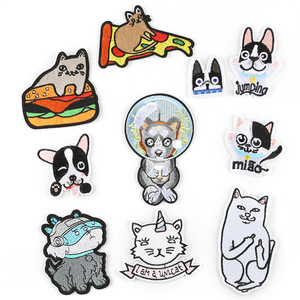 Милый мультфильм аниме кошка собака забавная куртка с нашивками брюки сумка DIY декоративные тепловой ремонт железа на значок