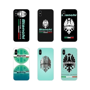 Transparent Soft Covers Bianchi Bike Logo Bicycle Team For Apple iPhone X XR XS MAX 4 4S 5 5S 5C SE 6 6S 7 8 Plus ipod touch 5 6(China)