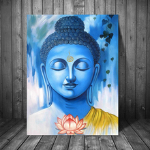 Buddha Lotus Colorful Wallpaper Canvas Painting Print Living Room Home Decor Modern Wall Art Oil Painting Poster Salon Pictures