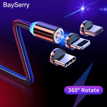 Magnetic Micro USB Cable For iPhone 12 11 Pro XR Samsung S21 S20 S10 Xiaomi Mobile Fast Charging USB Type C Cable Magnet Charger