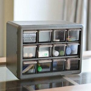 Multi-grid Storage Box Drawer Organization Transparent Jewelry MINI Storage Box Bedroom Living Room Drawer Cabinet Plastic Case