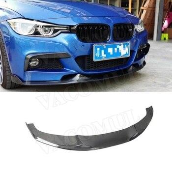 Carbon Fiber Front Lip Spoiler for BMW 3 Series F30 F35 M Sport 320i 325i 328i 2012-2018 MAD Style Bumper Chin Shovel