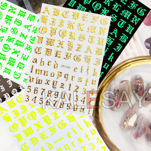 Nail Decoration Stickers on The Nails of The Inscription Accessoires Rose Gold Letter Decal Sticker Art for Manicure Back Glue(China)