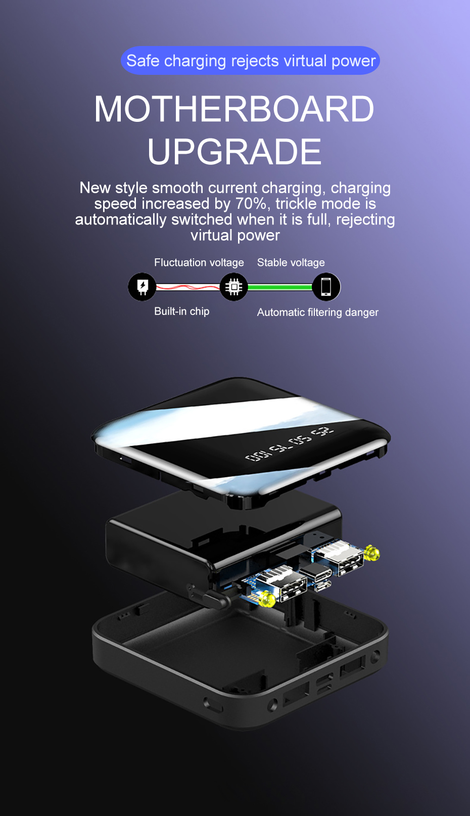 PINZHENG Mini Portable 10000mAh Power Bank For Xiaomi Mi With LED Digital Display 11