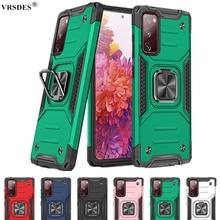 Luxury Armor Magentic Ring Case For Samsung Galaxy Note 20 S20 Ultra A51 A71 S10 S9 S8 Plus A30 A50 A70 A21 S A31 A41 M10 A81