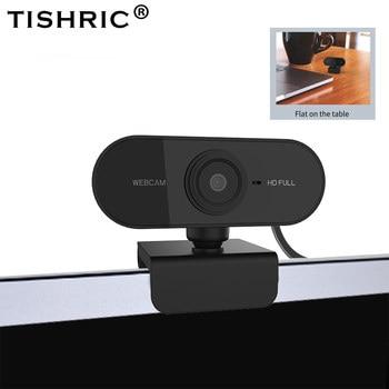 TISHRIC Autofocus Full HD Webcam 1080p Web Camera HD Computer Camera Plug and Play Webcam PC with Microphone 2