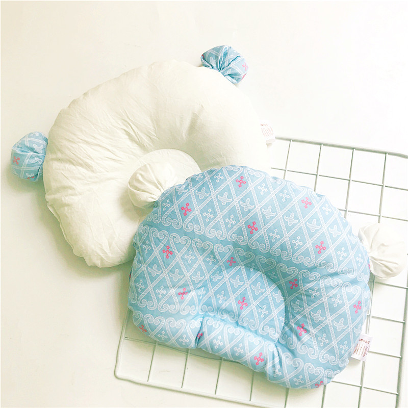 0-1 Years Old Baby Shaping Pillow Breathable Cotton Cute Bear Head Type Correction Pillow Newborn Kids Room Decoration (6)