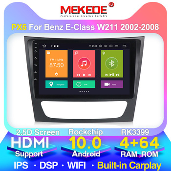 New android10.0 4G+64G gps Car Multimedia player For Mercedes Benz E-class W211 E200 E220 E300 E350 E240 E270 GPSDSP IPS BT image