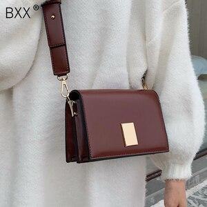 Image 1 - BXX sacs en cuir PU en couleur unie, sacoche femme à bandoulière dautomne 2020, sacs à main de voyage, pochettes HI822
