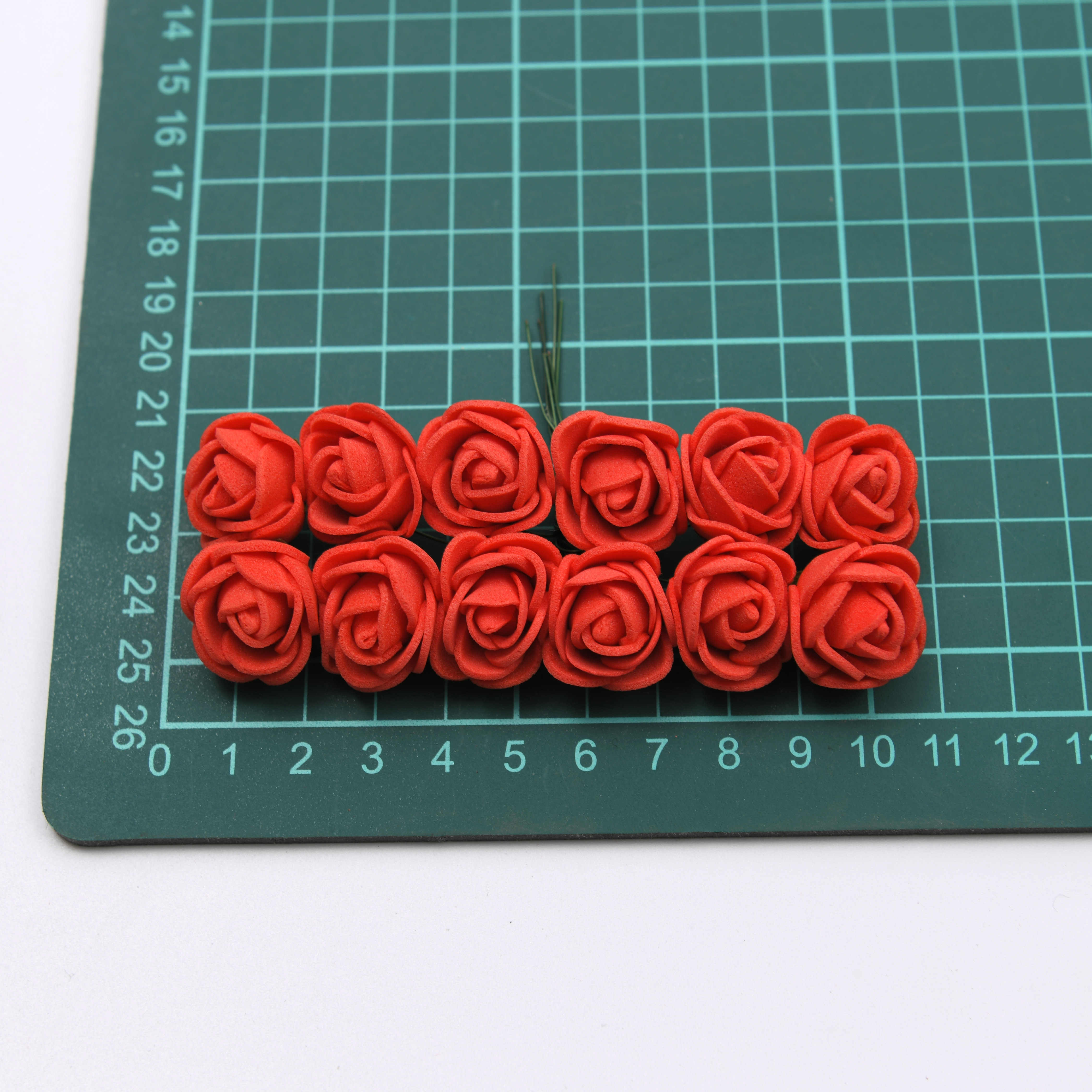 144PCS/72PCS/12PCS 2 ซม.Mini Foam Roseดอกไม้ประดิษฐ์ดอกไม้งานแต่งงานตกแต่งDIYพวงหรีดคริสต์มาสปลอมRose