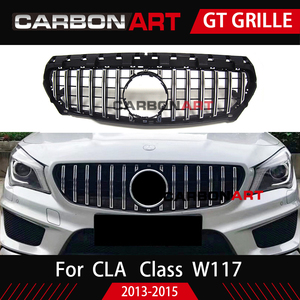 Image 3 - 11.11 CLA W117 GT style Grille for MB Front Grill for CLA Class W117 C117 CLA200 220 CLA260 300 2013 2015 FOR benz front grille