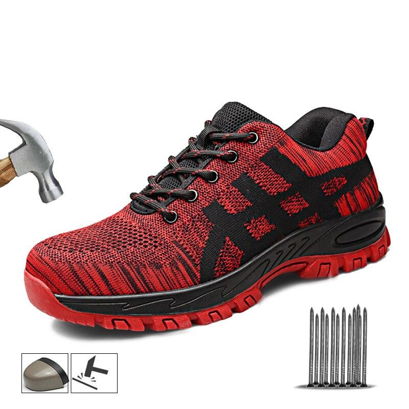 Manlegu/Рабочая обувь для мужчин; зимняя обувь; рабочие ботинки со стальным носком; Мужские дышащие безопасные кроссовки