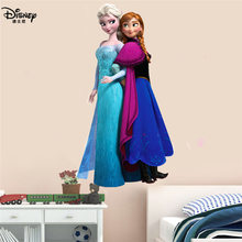Disney Frozen Moana Sticker Toy Elsa Queen Anna Princess 3D Mural PVC Waterproof Self-adhesive Bedroom Decoration wall stickers(China)
