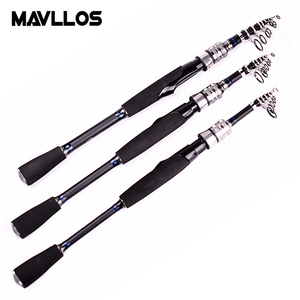 Image 2 - Mavllos Ultra short Portable Spinning Telescopic Fishing Rod 1.98m 2.28m 2.58m Fast Action Ultra Light Spinning Rod Pole