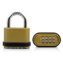 Large Size Four-digit Bottom Password Lock Zinc Alloy For Gate Warehouse Logistics Vehicle Combination Padlock zinc alloy automatic 9 digit numbering stamp machine