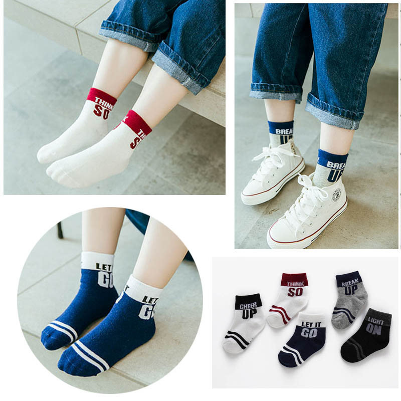 5 Pairs Autumn Winter Cotton Socks Winter Cartoon Baby Chilren Girls Boys Mid Tube Socks Meias Para Bebe Baby Winter Warm Socks