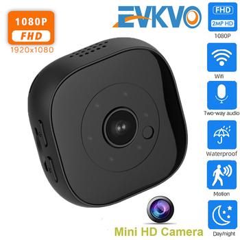 H9 Wifi Mini kamera sportowa kamera akcyjna DV mikro kamera IR noktowizor czujnik ruchu kamera nagrywanie audio wideo IP kamera WIFI tanie i dobre opinie EVKVO 1080 p (full hd) 64 gb Microsd tf CMOS Support