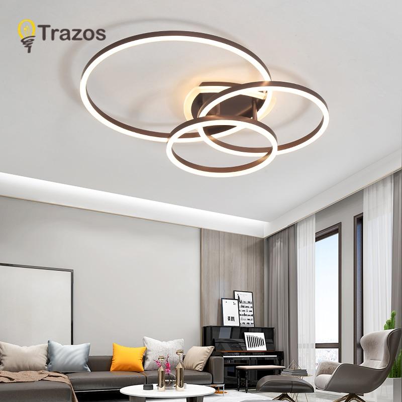 Plafonniers de salon populaires chambre plafon lampe à LED luminarias décoration de la maison café/abat-jour acrylique blanc lampada